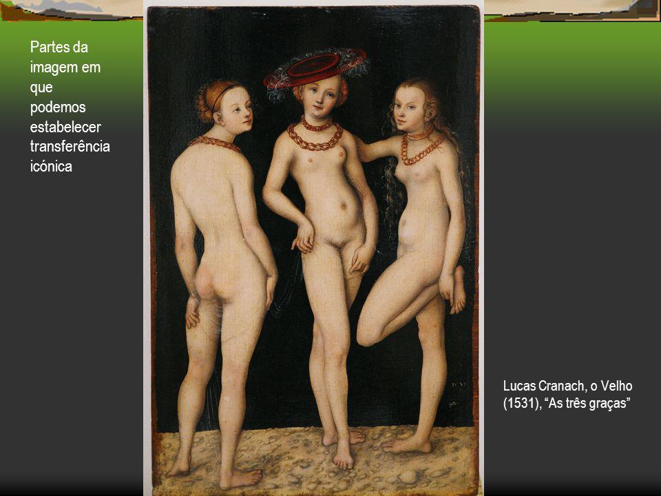 Lucas Cranach, o Velho (1531), As três graças Partes da imagem em que podemos estabelecer transferência icónica