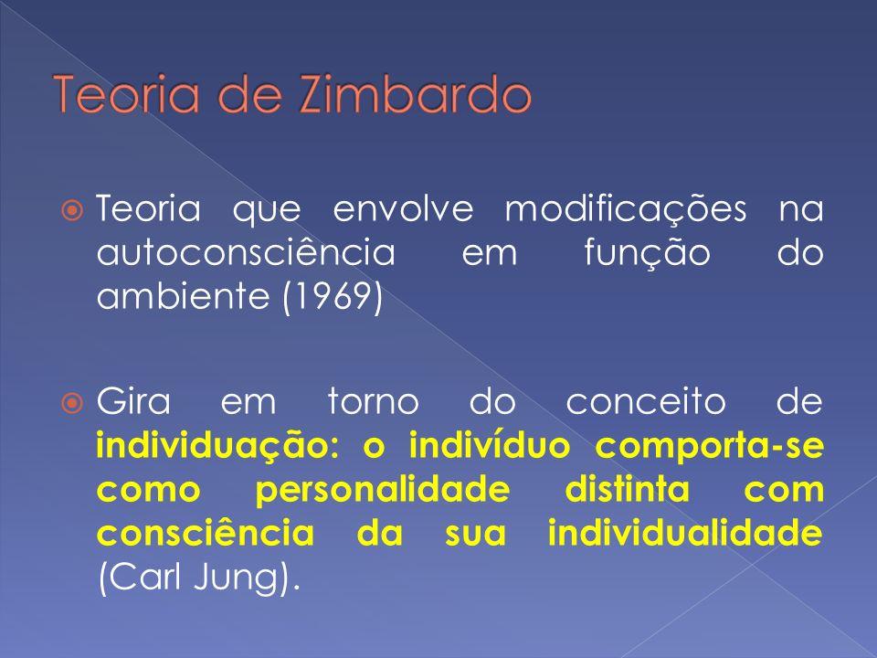 Teoria que envolve modificações na autoconsciência em função do ambiente (1969) Gira em torno do conceito de individuação: o indivíduo comporta-se com