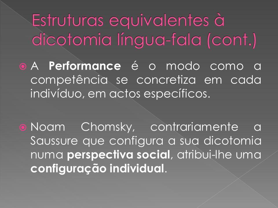 (2) Eugenio Coseriu : Sistema, norma e fala: O sistema é o conjunto de potencialidades próprias de falantes integrados na mesma comunidade linguística.
