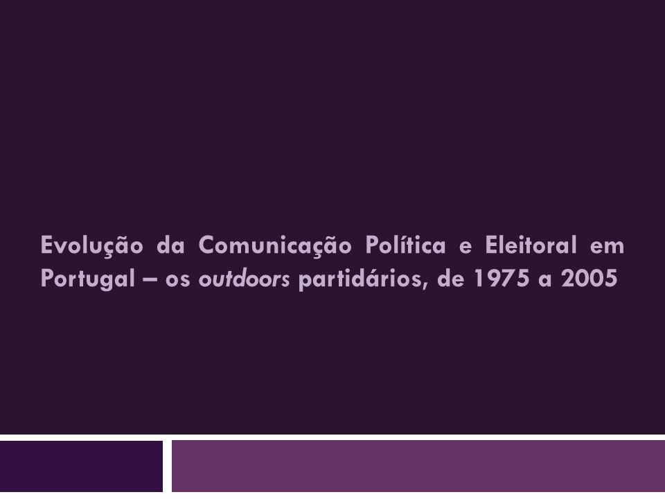Evolução da Comunicação Política e Eleitoral em Portugal – os outdoors partidários, de 1975 a 2005
