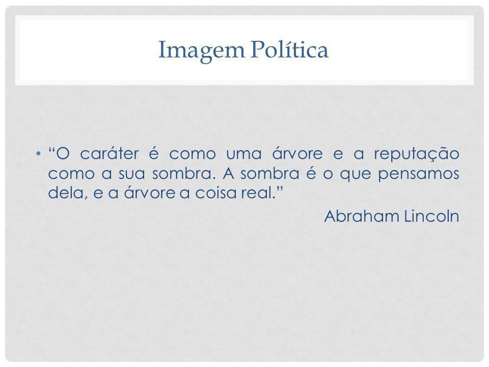 Imagem Política O caráter é como uma árvore e a reputação como a sua sombra. A sombra é o que pensamos dela, e a árvore a coisa real. Abraham Lincoln