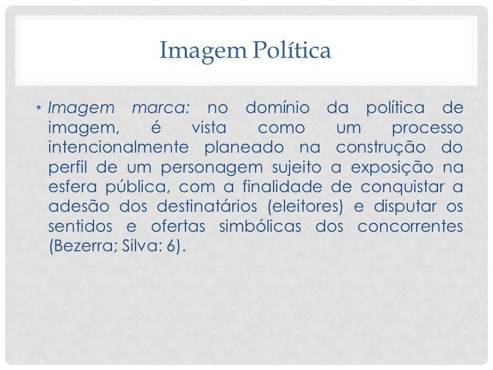 Imagem Política Imagem marca: no domínio da política de imagem, é vista como um processo intencionalmente planeado na construção do perfil de um perso