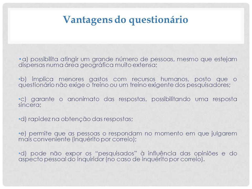 Recomendações para a redação das perguntas 7.