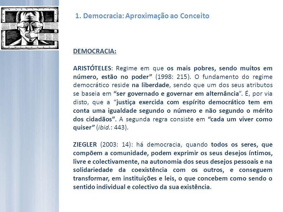 1.Democracia: Um regime também imperfeito.