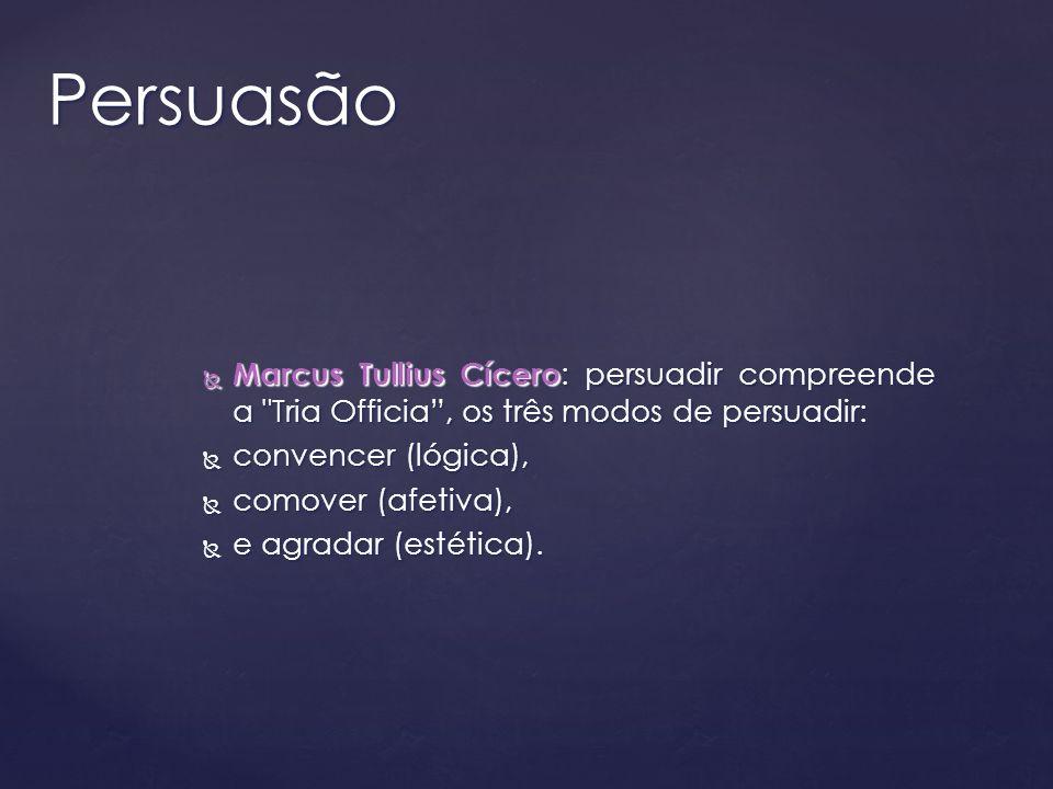Marcus Tullius Cícero : persuadir compreende a