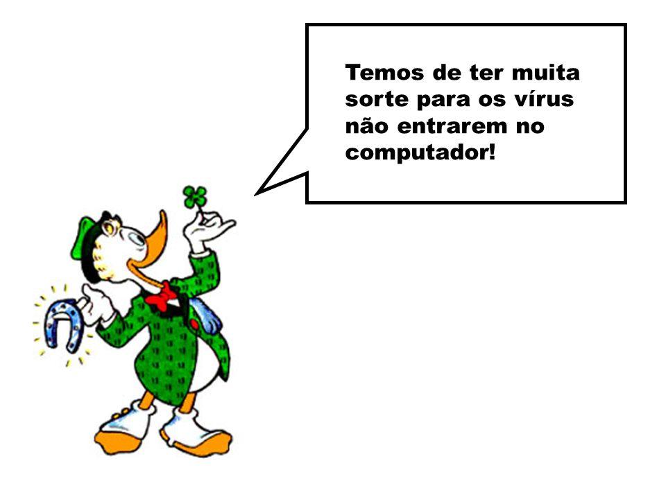 Temos de ter muita sorte para os vírus não entrarem no computador!