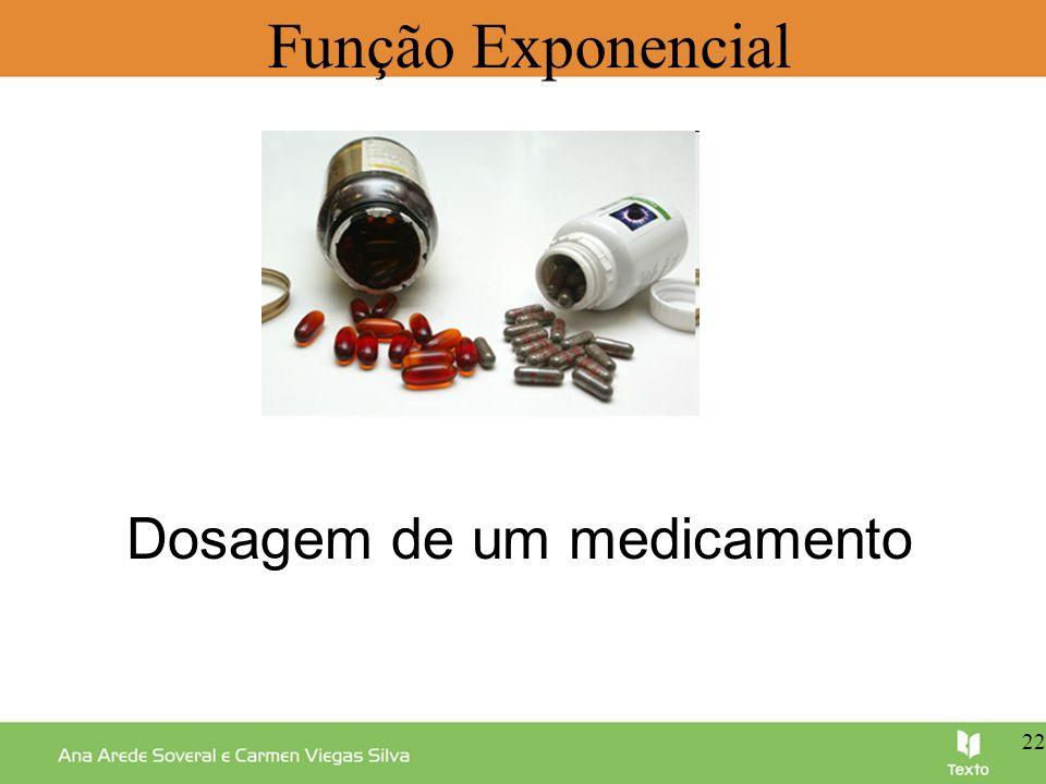 Função Exponencial Dosagem de um medicamento 22