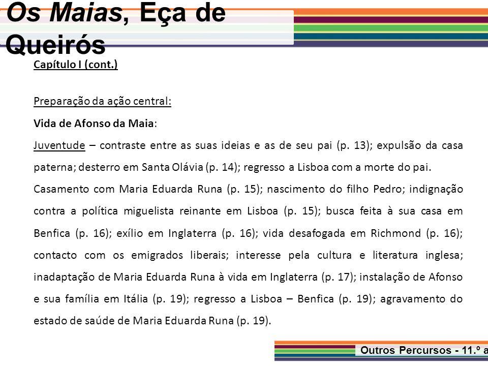 Os Maias, Eça de Queirós Outros Percursos - 11.º ano Capítulo XIII Carlos prepara a ida aos Olivais (p.
