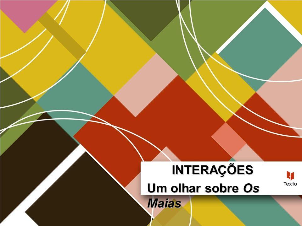 Um olhar sobre Os Maias Interações – 11.º Ano Meio envolvente Lisboa sentimental, boémia, pervertida pelas leituras Romântico Sentimental Piegas Paixão arrebatadora Casamento falhado Suicídio