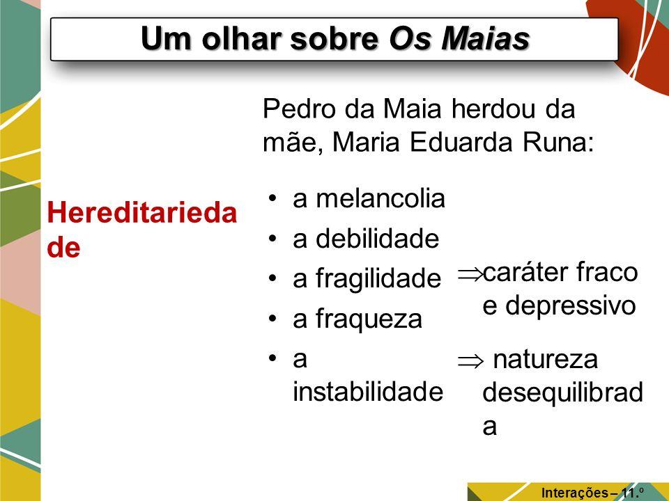 Um olhar sobre Os Maias Interações – 11.º Ano A educação de Carlos da Maia Coimbra O charme discreto do Paço de Celas.