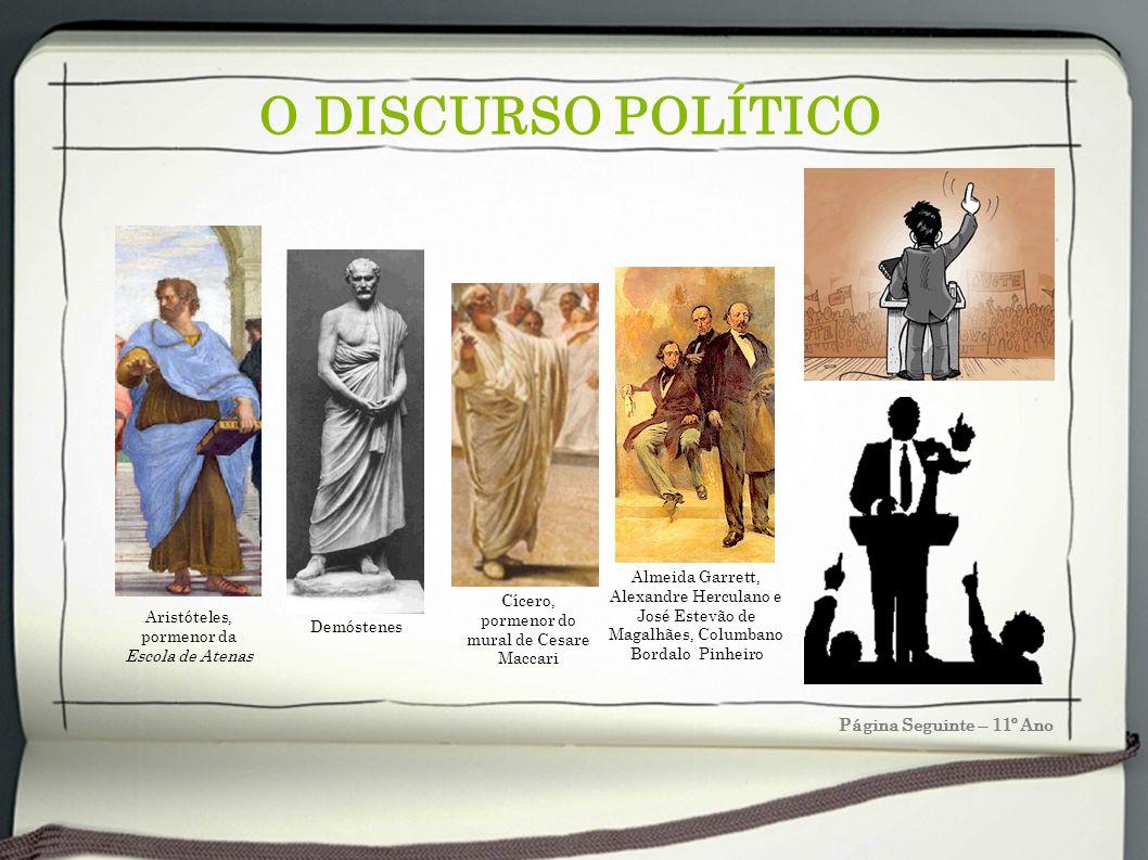 O DISCURSO POLÍTICO Página Seguinte – 11º Ano A Aristóteles (Estagira, 384 a.C.– 322 a.C.) Filósofo grego discípulo de Platão.