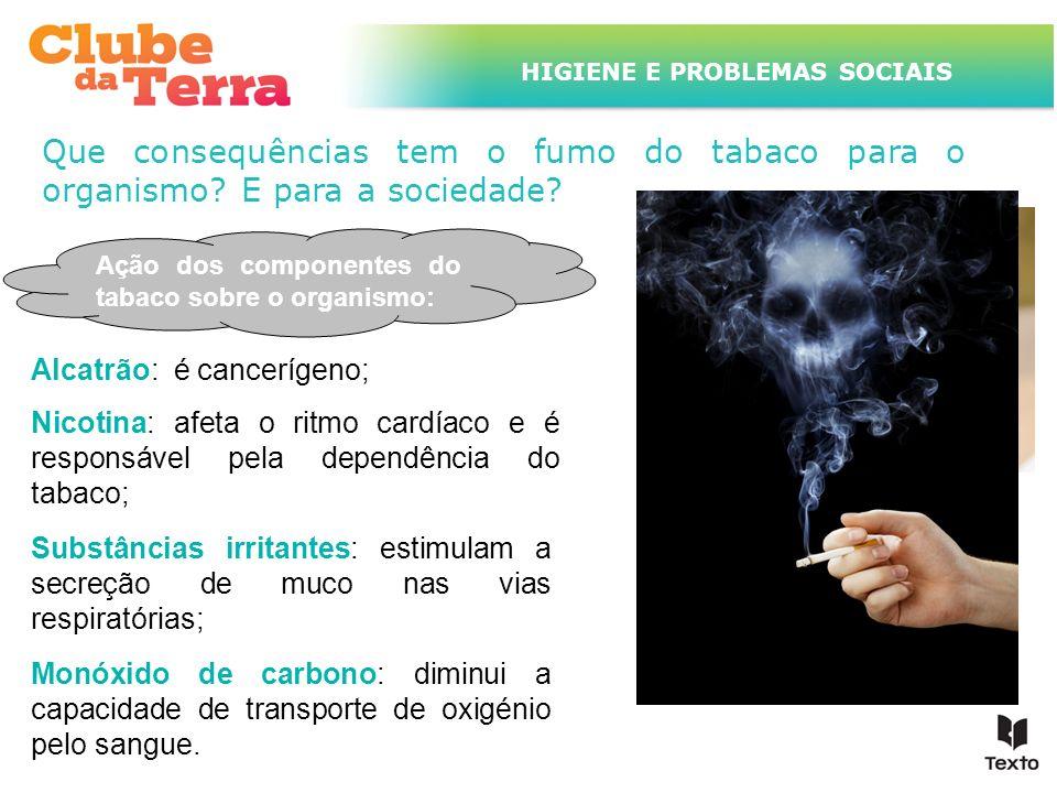TÍTULO DO ASSUNTO A SER TRATADO NESTE POWERPOINT QUE TEM UM TÍTULO GRANDE HIGIENE E PROBLEMAS SOCIAIS Que consequências tem o fumo do tabaco para o or