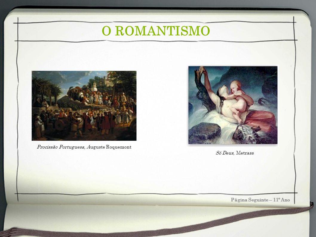 O ROMANTISMO Página Seguinte – 11º Ano Só Deus, Metrass Procissão Portuguesa, Auguste Roquemont