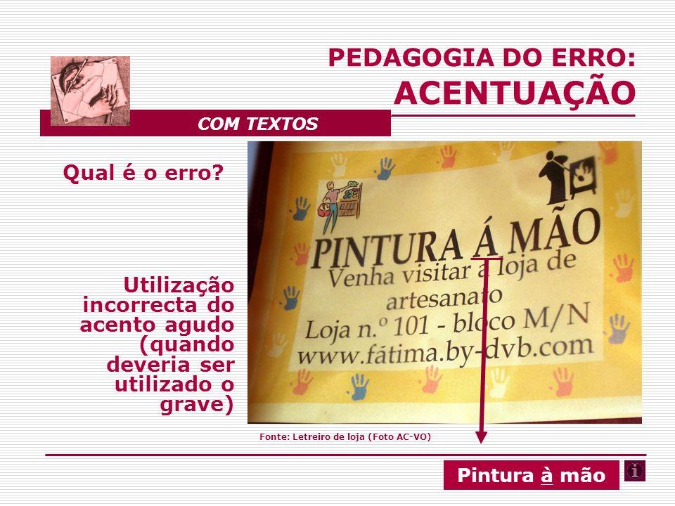 O que dizem as gramáticas: Os acentos gráficos, na Língua Portuguesa, designam- -se da seguinte forma: agudo (´), grave (`) e circunfle- xo (^).