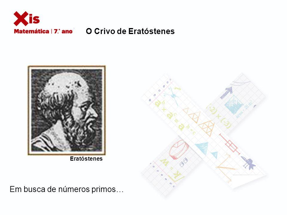 O Crivo de Eratóstenes Em busca de números primos… Eratóstenes