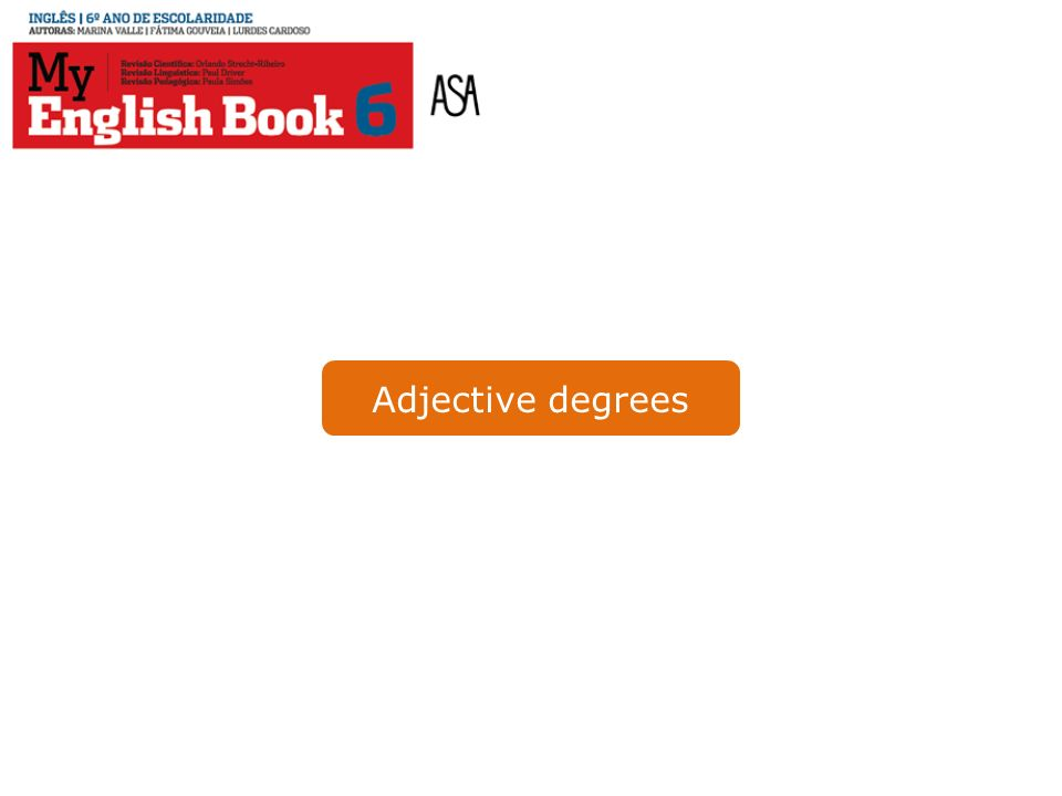 Adjective degrees