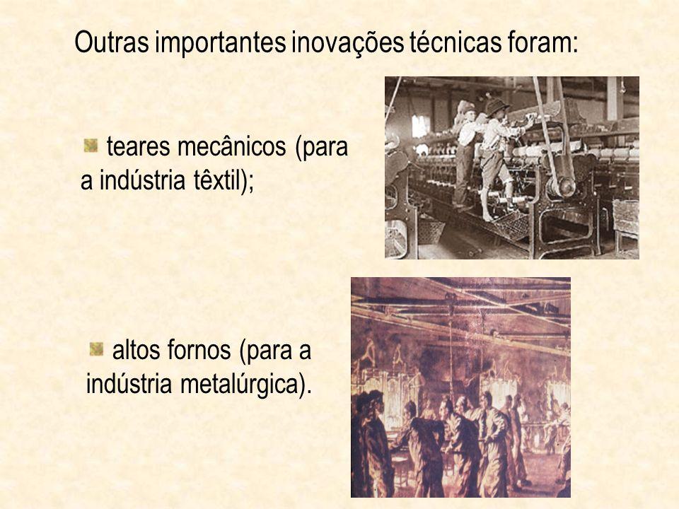 Com a mecanização, a tradicional produção artesanal deu lugar à produção industrial.