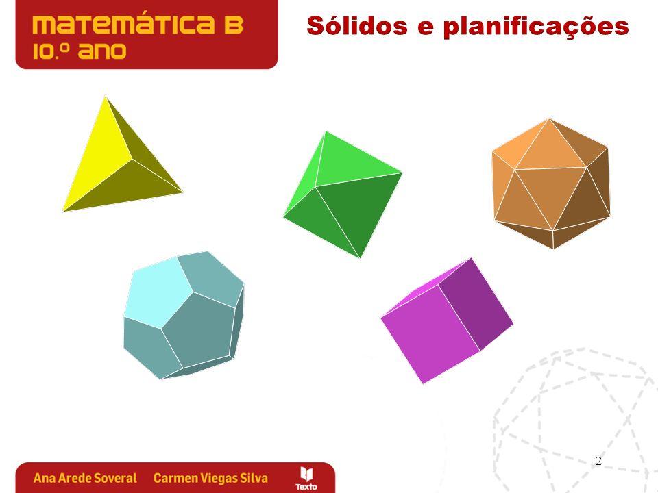 3 Qual é o número mínimo e qual o número máximo de triângulos que se podem dispor deste modo, permitindo-nos construir um sólido.