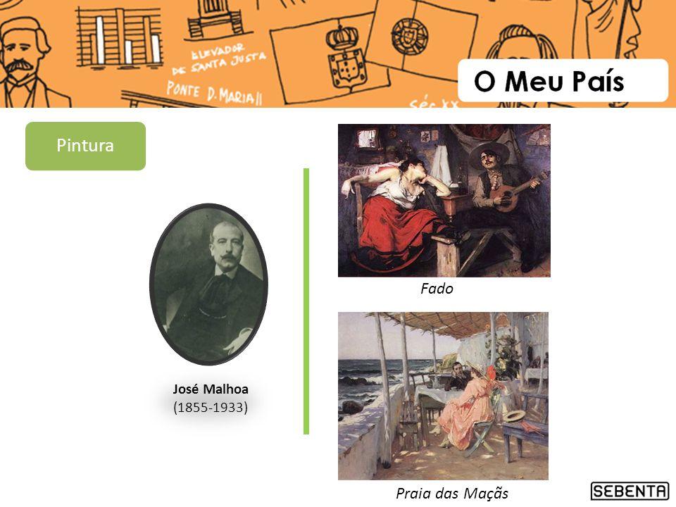 José Malhoa (1855-1933) Fado Praia das Maçãs Pintura