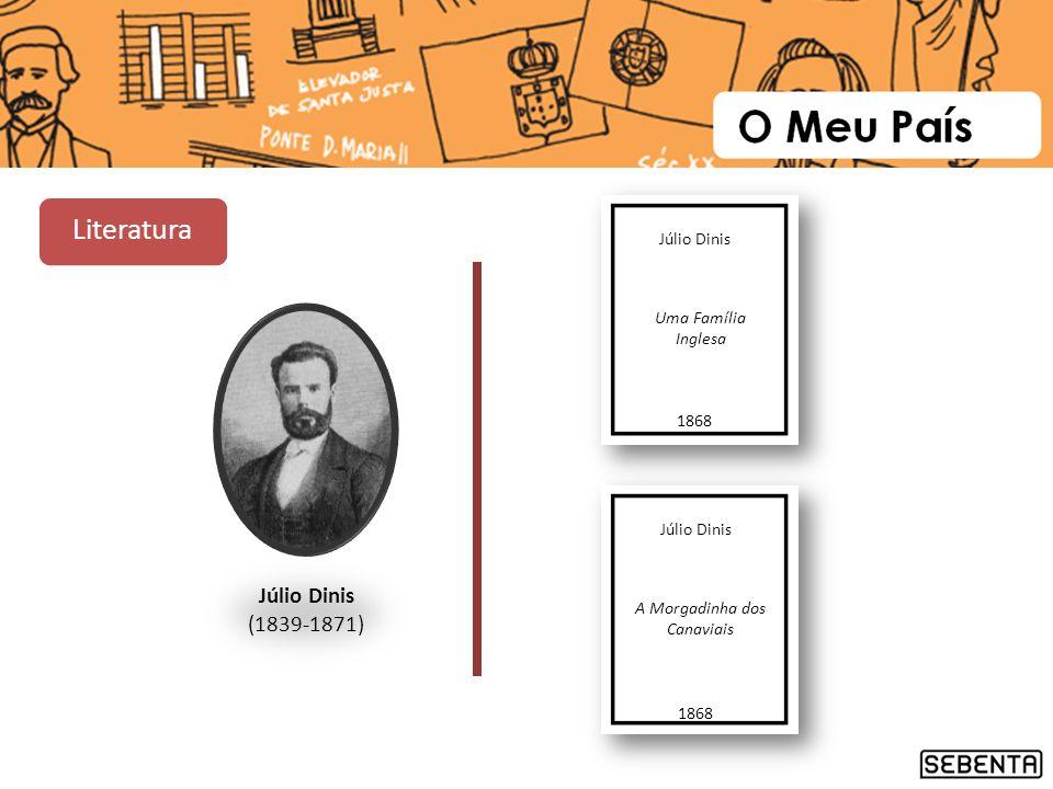Júlio Dinis (1839-1871) Júlio Dinis Uma Família Inglesa 1868 Júlio Dinis A Morgadinha dos Canaviais 1868 Literatura