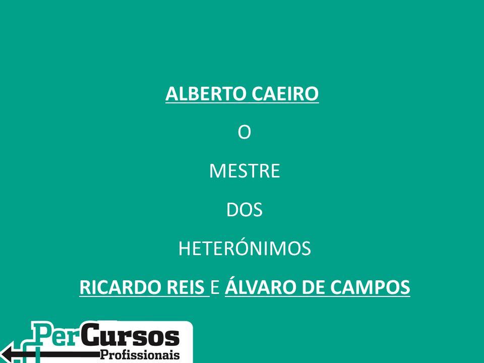 ALBERTO CAEIRO O MESTRE DOS HETERÓNIMOS RICARDO REIS E ÁLVARO DE CAMPOS