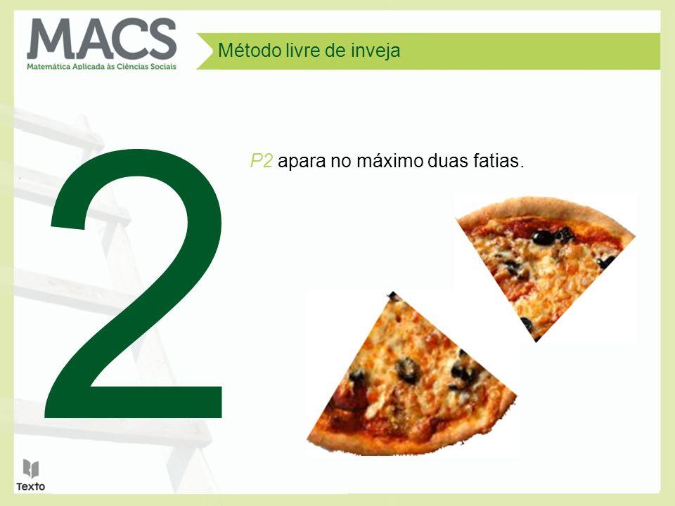 Método livre de inveja P2 apara no máximo duas fatias. 2