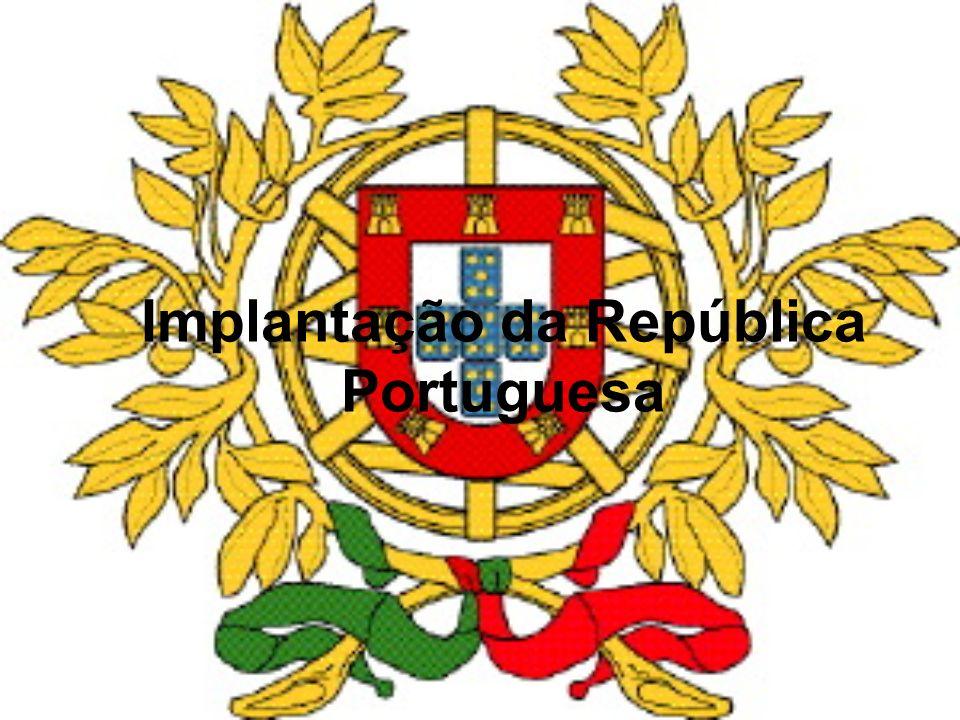 Porque se deu a queda da Monarquia A queda do regime deve-se: –Ultimato Inglês 1890 –Crise económica em Portugal (1891-1892) –Sucessivos Adiantamentos de dinheiro ao Rei –Queda do Reinado de D.