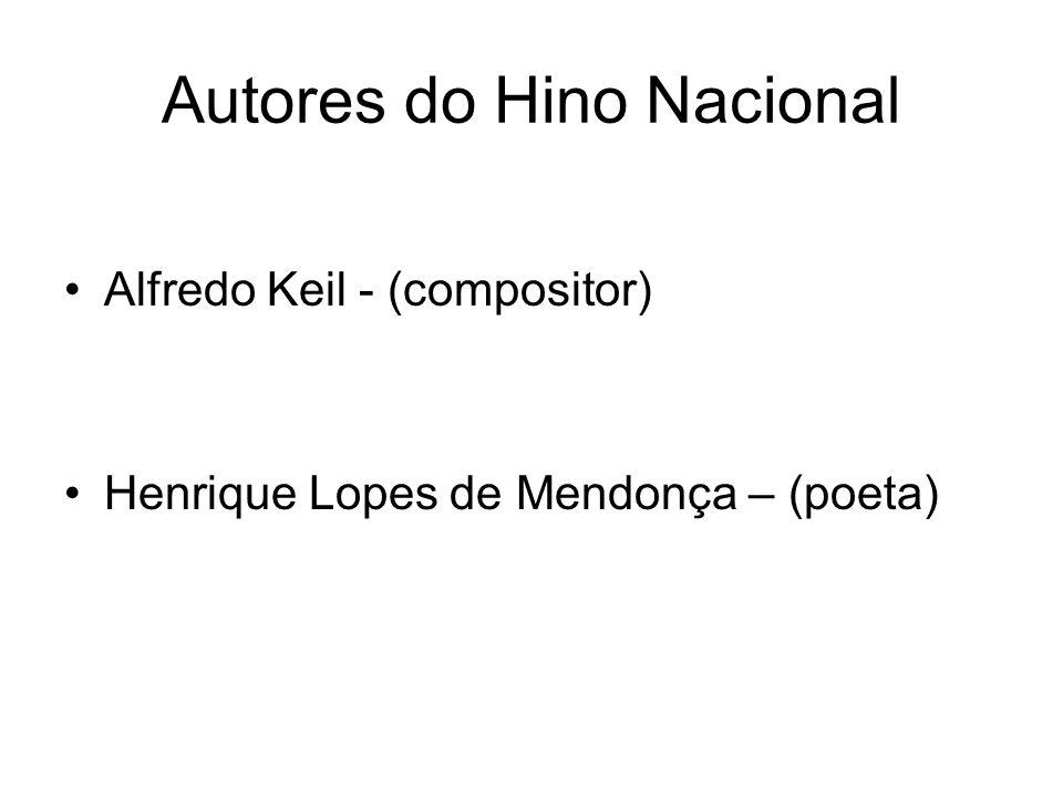 Autores do Hino Nacional Alfredo Keil - (compositor) Henrique Lopes de Mendonça – (poeta)