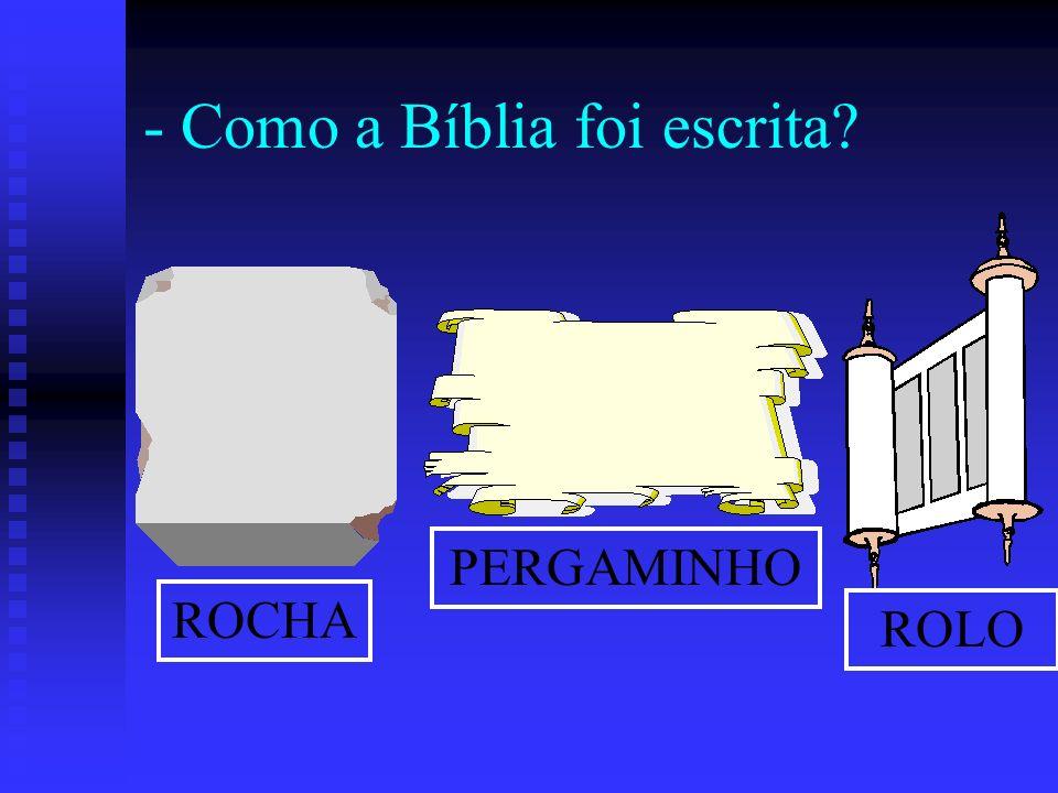 - Como a Bíblia foi escrita? ROCHA PERGAMINHO ROLO