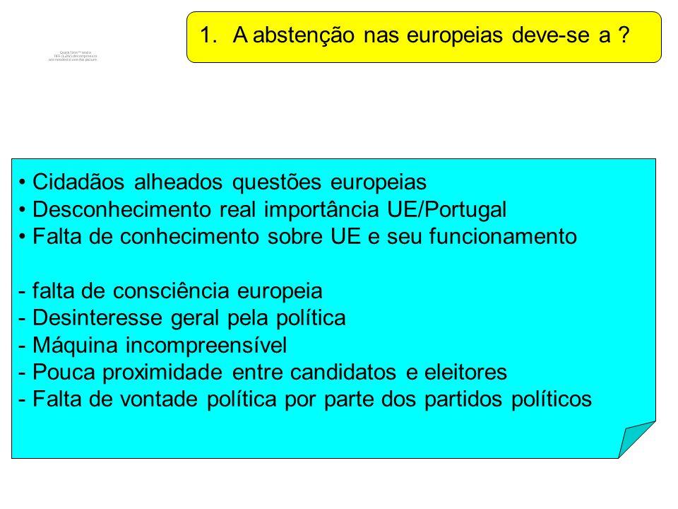 2.Os portugueses acham que a UE está no caminho certo .