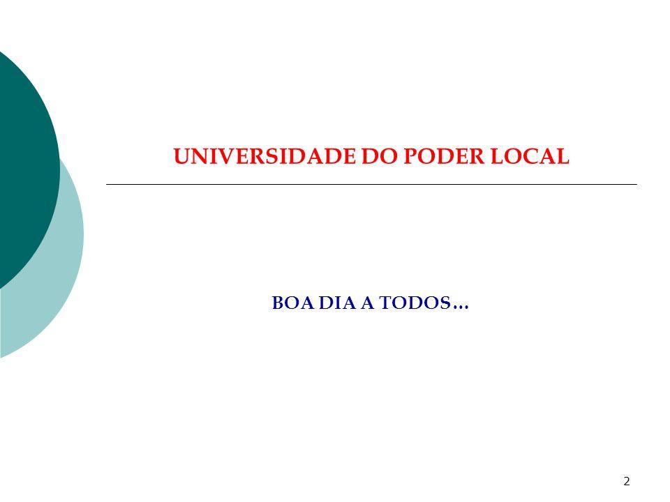 1 MÓDULO: AS LEIS QUE NOS REGEM… Paredes, 29 de Junho de 2007 Carlos Sousa Pinto UNIVERSIDADE DO PODER LOCAL