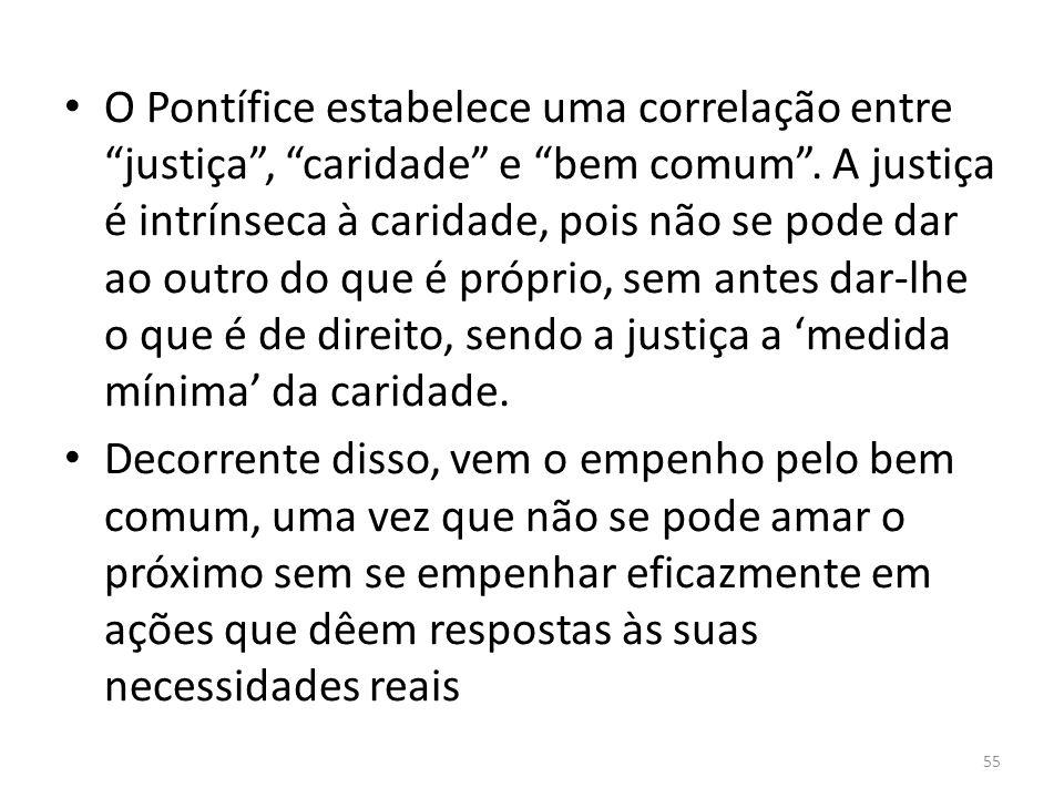 Bem Comum Bem comum = finalidade da ação política e realização concreta da justiça e da caridade.