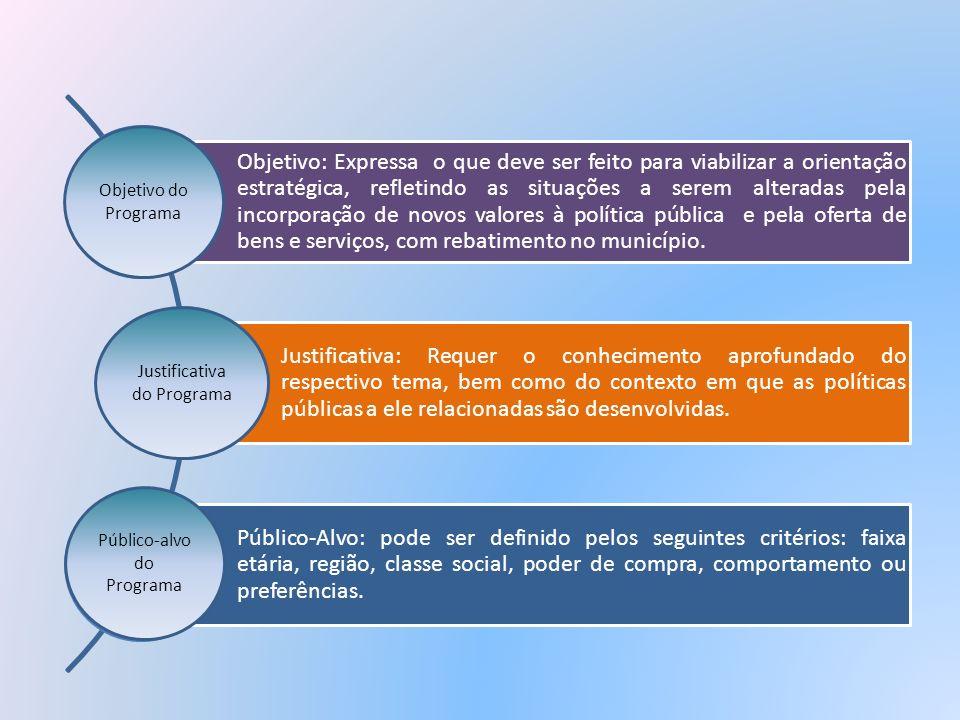 Objetivo: Expressa o que deve ser feito para viabilizar a orientação estratégica, refletindo as situações a serem alteradas pela incorporação de novos