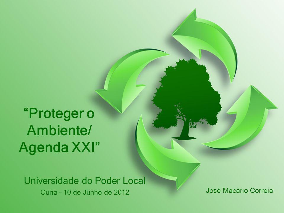 Proteger o Ambiente/ Agenda XXI Universidade do Poder Local Curia – 10 de Junho de 2012 José Macário Correia