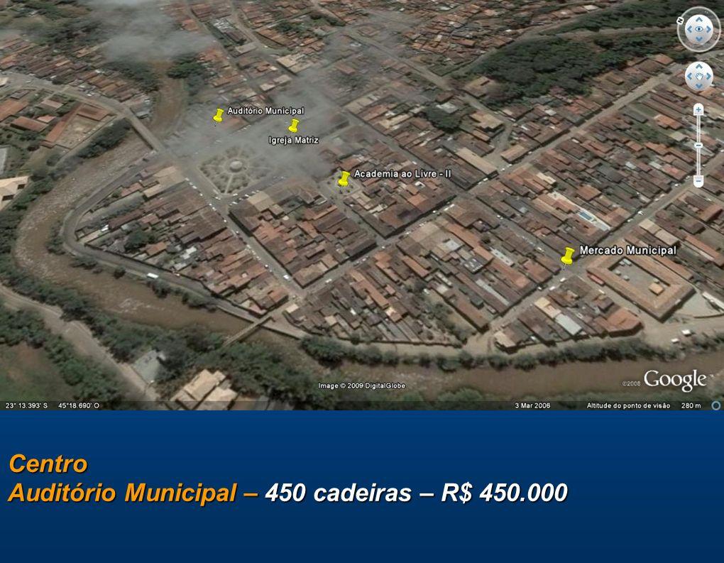 Centro Auditório Municipal – 450 cadeiras – R$ 450.000