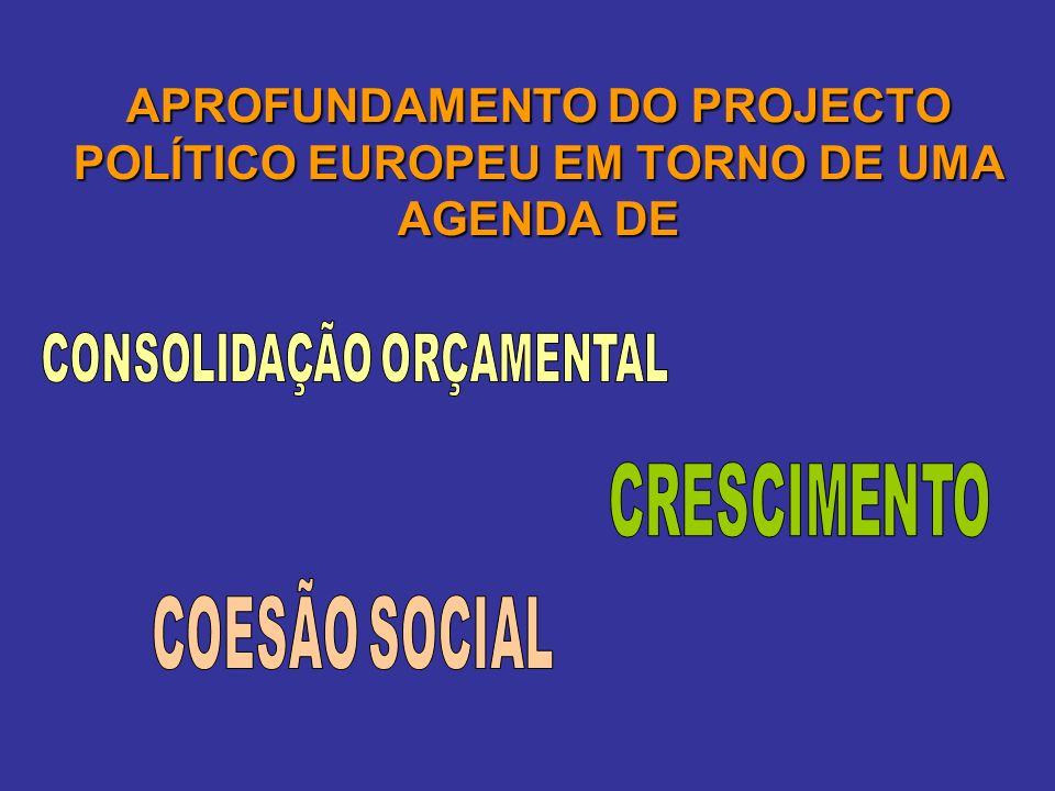 APROFUNDAMENTO DO PROJECTO POLÍTICO EUROPEU EM TORNO DE UMA AGENDA DE
