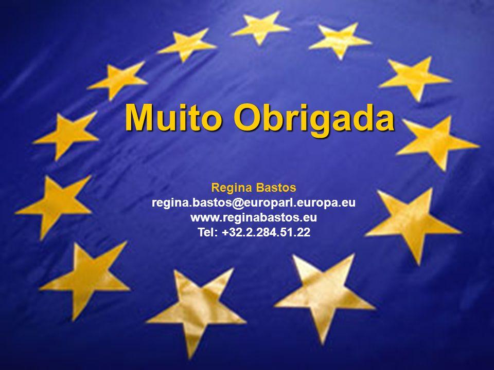 Muito Obrigada Regina Bastos regina.bastos@europarl.europa.eu www.reginabastos.eu Tel: +32.2.284.51.22