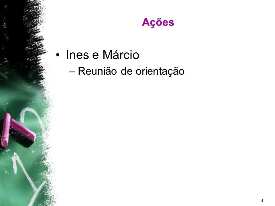 4 Ações Ines e Márcio –Reunião de orientação