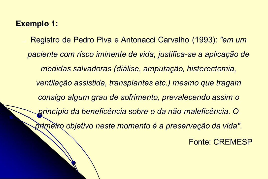 Exemplo 1: Registro de Pedro Piva e Antonacci Carvalho (1993):