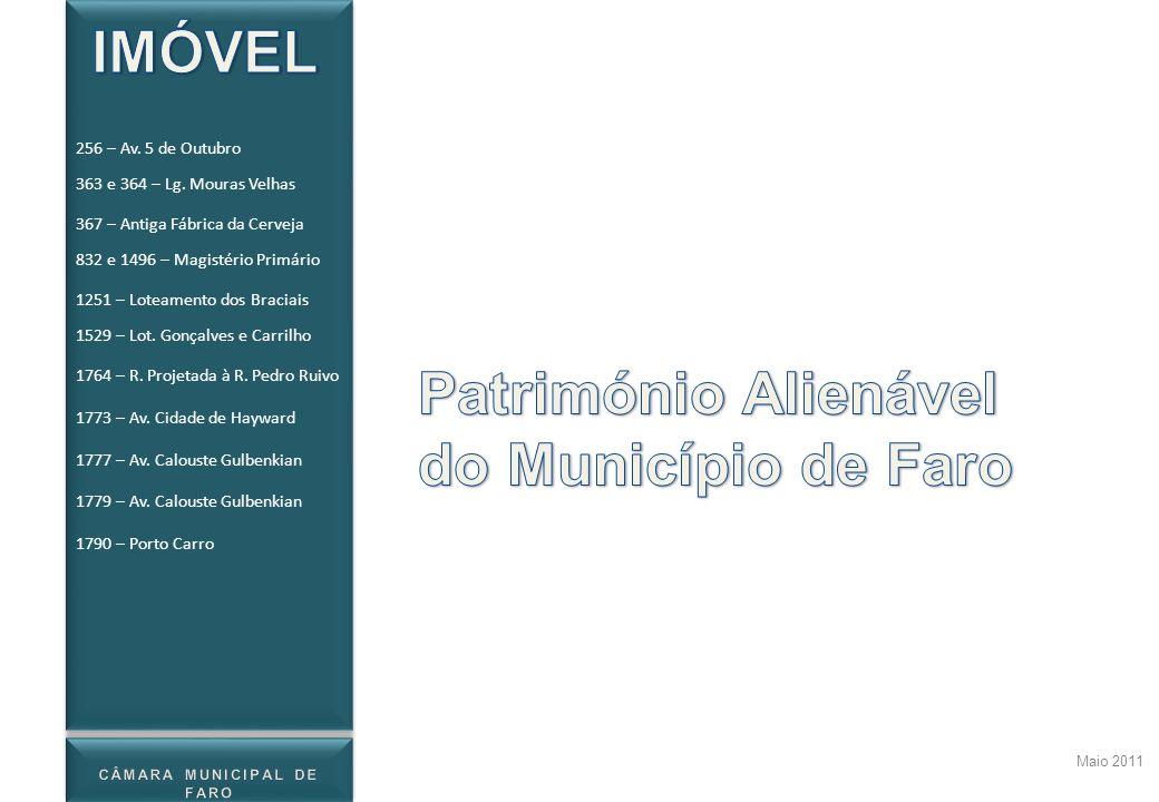 1790 – Porto Carro Localização Dados complementares Maio 2011 Caraterísticas e imagens Imagens retiradas do Google Earth 256 – Av.
