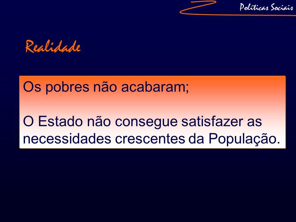 Políticas Sociais Os «novos» problemas do Estado: Diminuição da competitividade: No que se refere ao índice de competitividade, Portugal desceu da 24ª posição, em 2004, para o 43º lugar, em 2008;