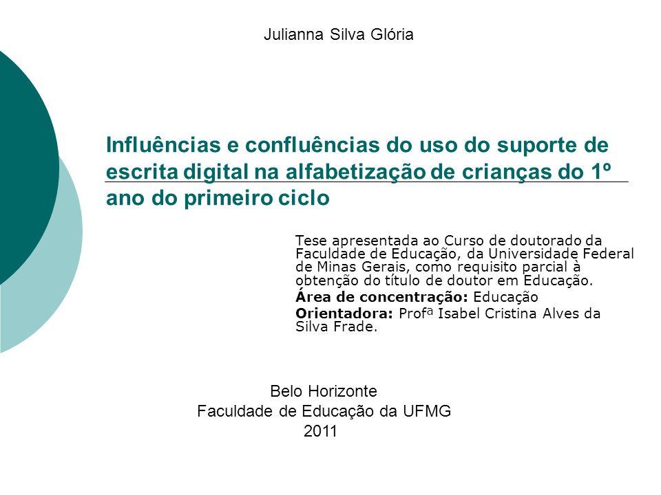 Objetivo geral Analisar as implicações do uso do computador e suas contribuições no período inicial de alfabetização, focalizando aspectos da alfabetização e do letramento digital que se desenvolvem no espaço de escolas públicas de Belo Horizonte com crianças de seis anos.