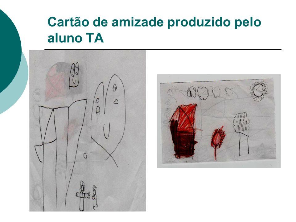 Cartão de amizade produzido pelo aluno TA
