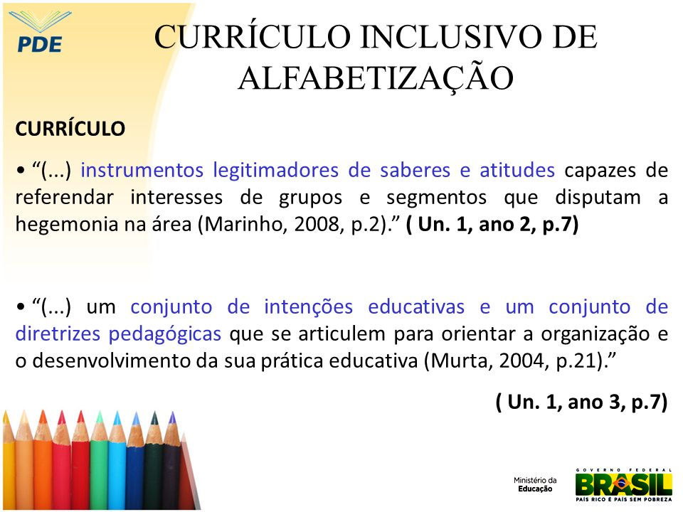 CURRÍCULO INCLUSIVO DE ALFABETIZAÇÃO Exemplo de proposta de alfabetização Interdisciplinar A proposta alfabetizadora de Paulo Freire apresenta princípios interdisciplinares.