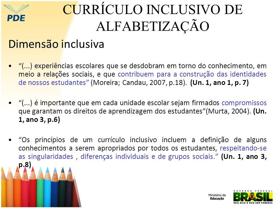 CURRÍCULO INCLUSIVO DE ALFABETIZAÇÃO No contexto da educação especial, de acordo com o documento NEE (Necessidades Educacionais Especiais), o termo (...) refere-se a todas aquelas crianças ou jovens cujas necessidades educacionais especiais se originam em função de deficiências ou de dificuldades de aprendizagem (...).
