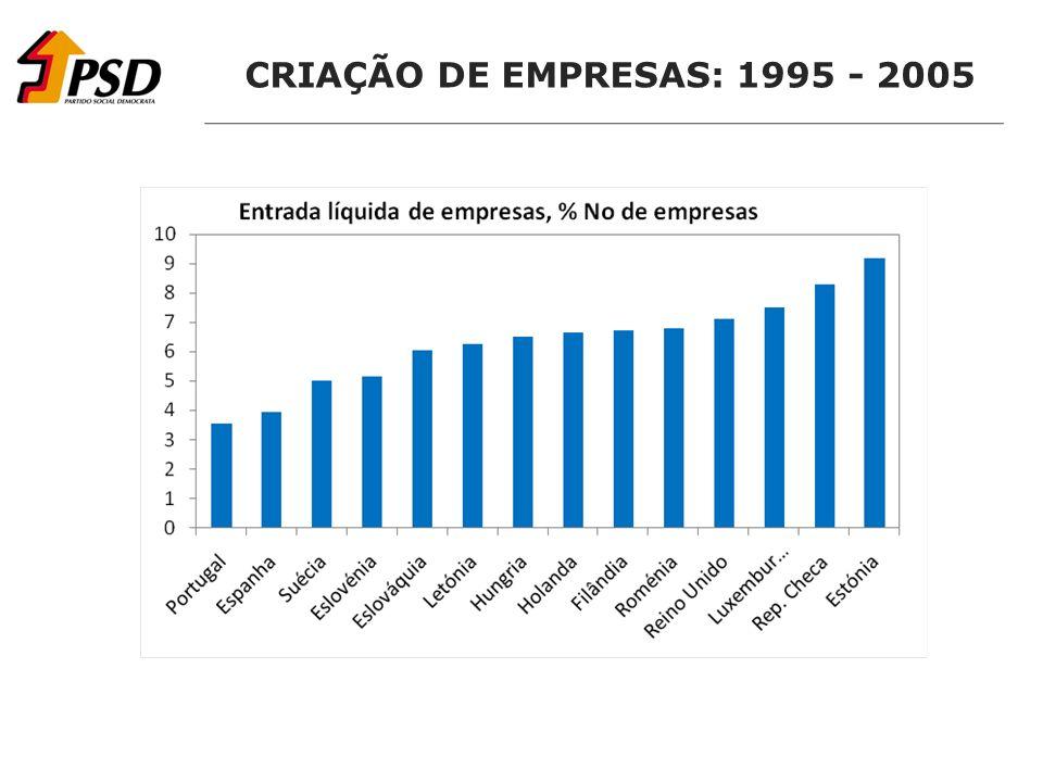 CRIAÇÃO DE EMPRESAS: 1995 - 2005