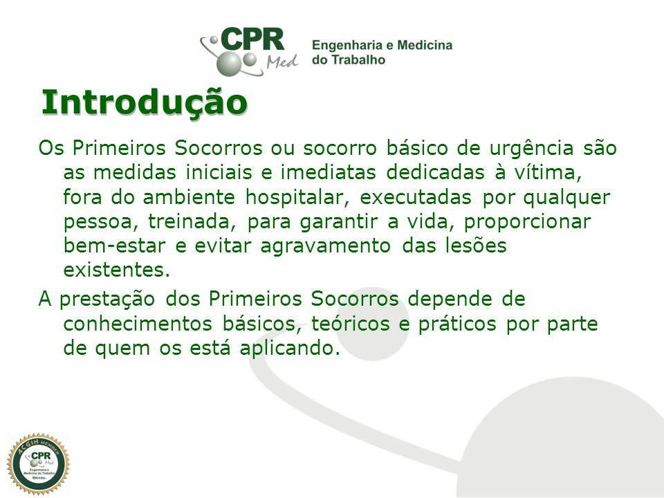 Introdução Os Primeiros Socorros ou socorro básico de urgência são as medidas iniciais e imediatas dedicadas à vítima, fora do ambiente hospitalar, ex