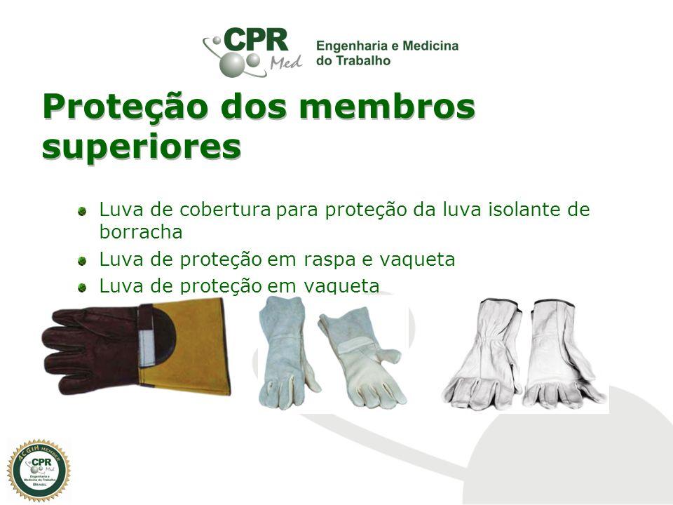 Proteção dos membros superiores Luva de cobertura para proteção da luva isolante de borracha Luva de proteção em raspa e vaqueta Luva de proteção em v