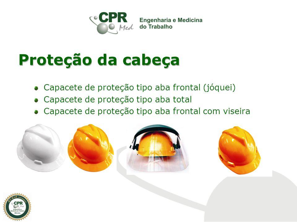 Proteção da cabeça Capacete de proteção tipo aba frontal (jóquei) Capacete de proteção tipo aba total Capacete de proteção tipo aba frontal com viseir