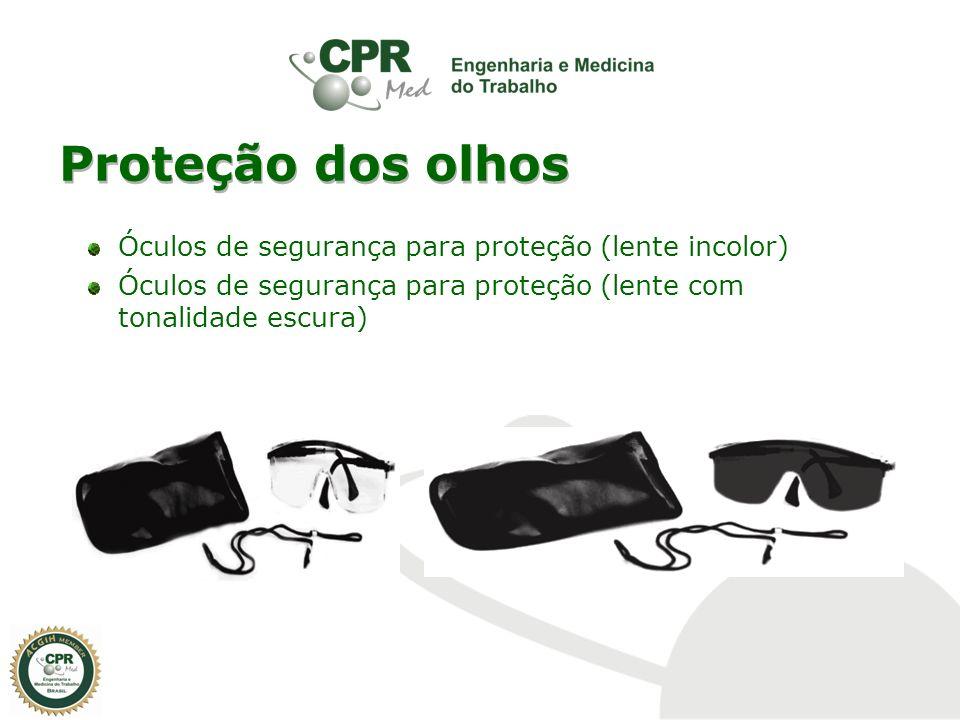 Proteção dos olhos Óculos de segurança para proteção (lente incolor) Óculos de segurança para proteção (lente com tonalidade escura)